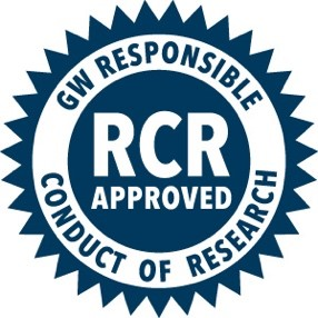 RCR Approved, GW Responsible Conduct of Research Logo